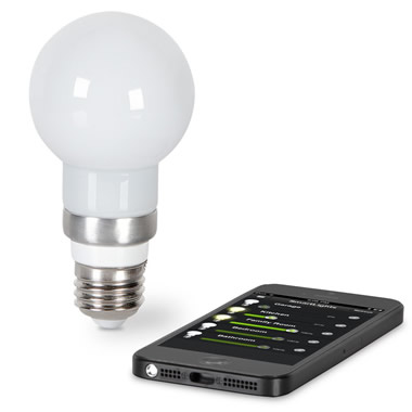The iPhone Controlled Light Bulb.