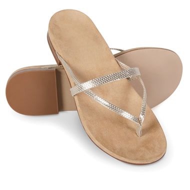 The Lady's Plantar Fasciitis Leather Strap Sandals.