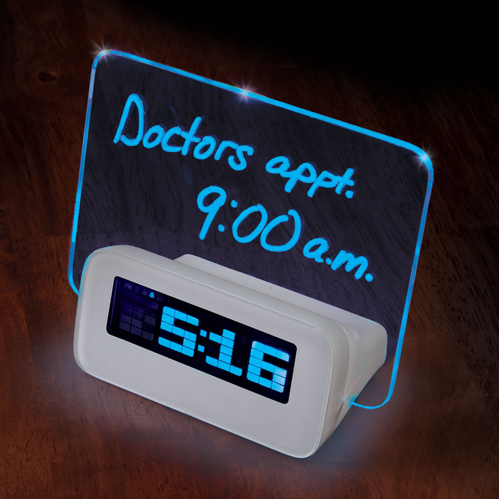 The Written Reminder Alarm Clock Hammacher Schlemmer