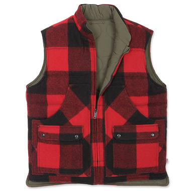 The Classic Buffalo Plaid Wool Vest.