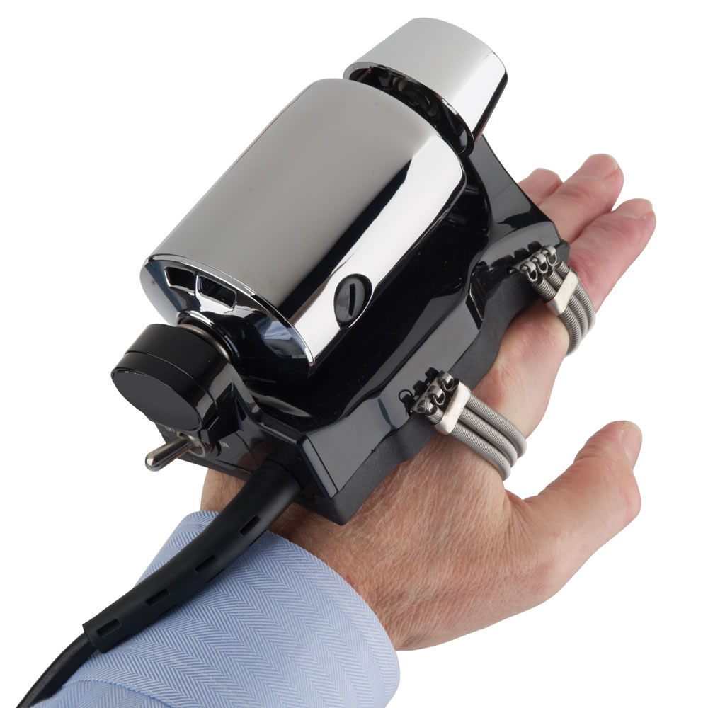 Barber Gloves : The Authentic Barbershop Vibration Massager - Hammacher Schlemmer