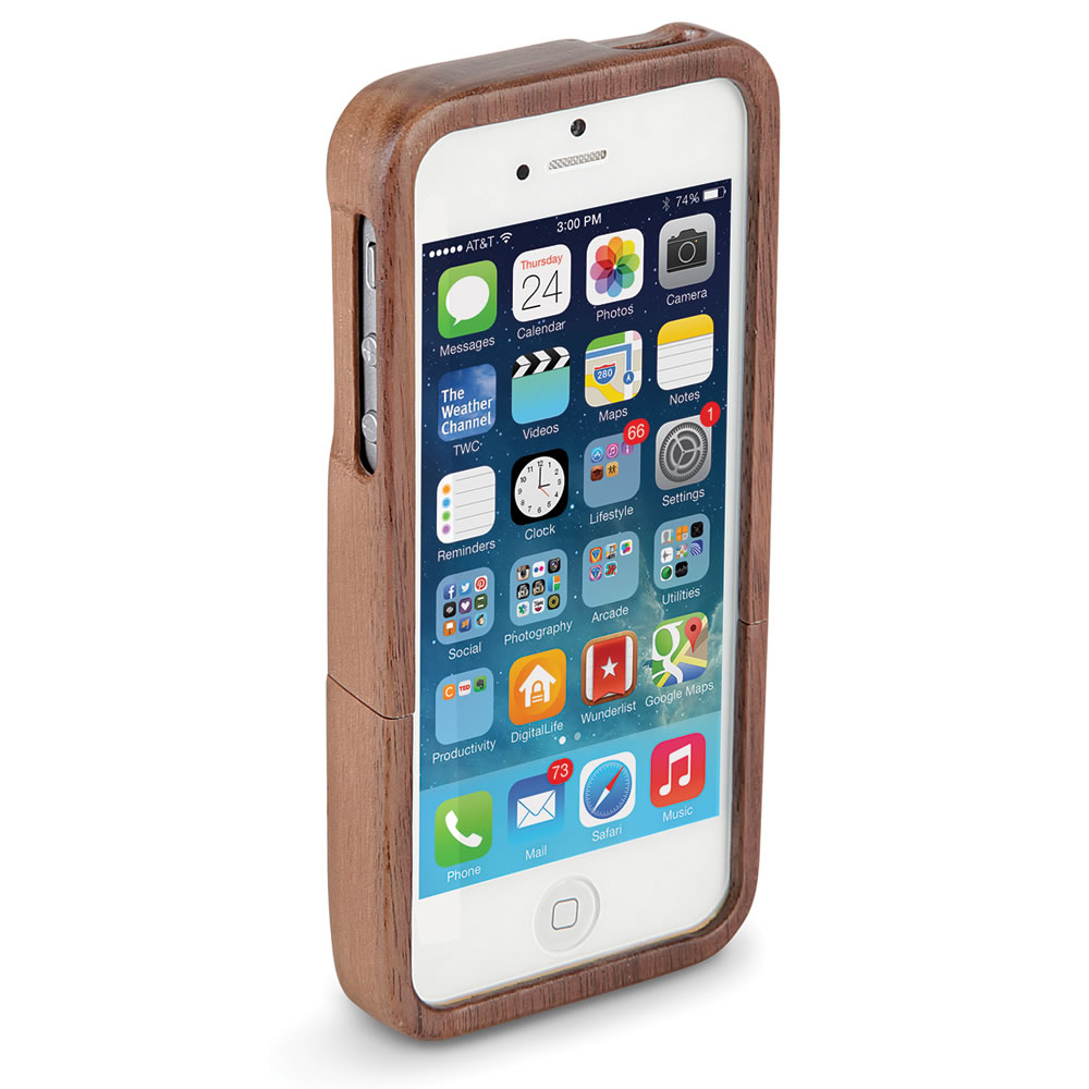 The Solid Walnut iPhone 5 Case 2