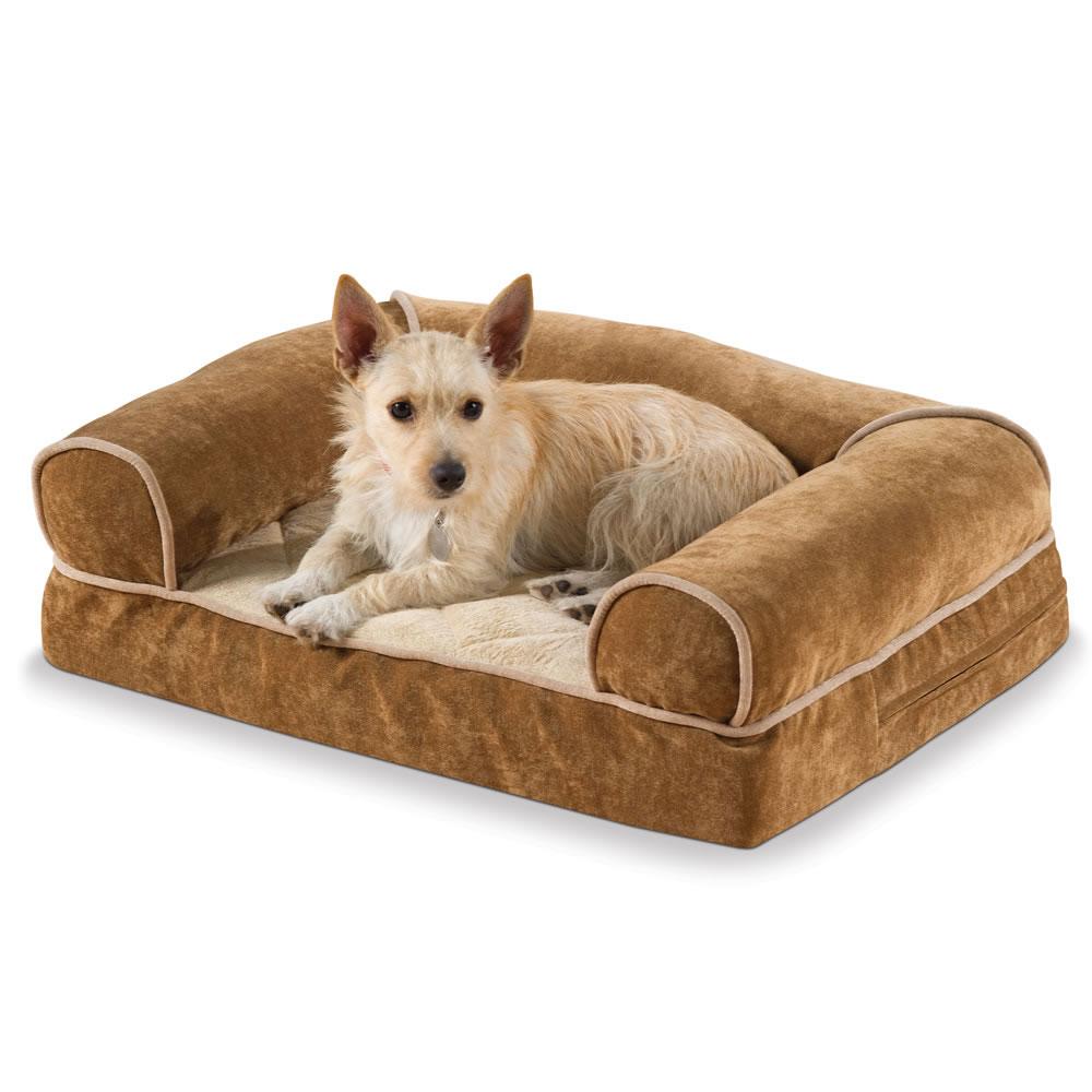 The Heated Dog Sofa Large Hammacher Schlemmer