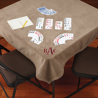 The Microfiber Bridge Table Cover.