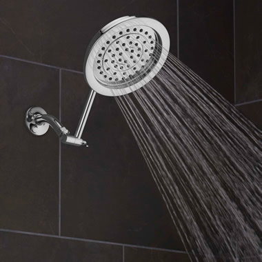 The Pressure Boosting Rainfall Showerhead.