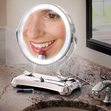 The Largest View Lighted Vanity Mirror.