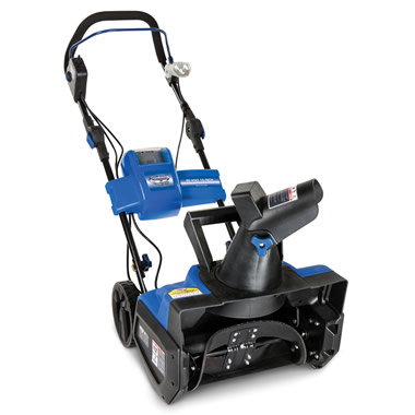The Rechargeable Snow Blower.