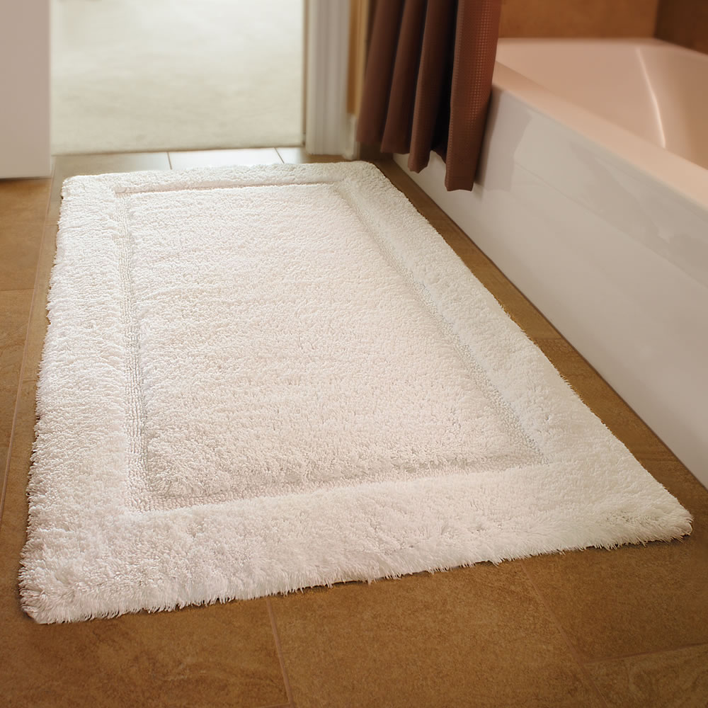 The European Luxury Spa Bath Mat Hammacher Schlemmer
