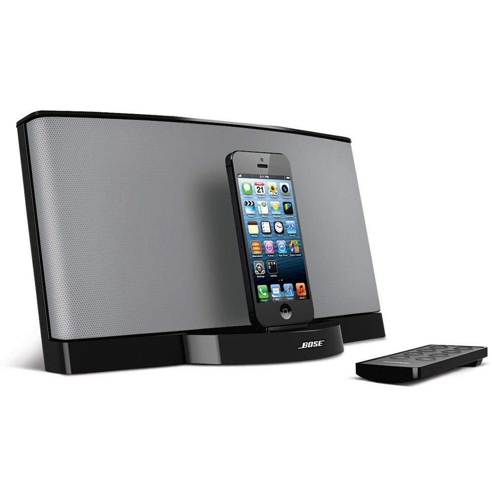 the bose iphone 5 sound dock hammacher schlemmer. Black Bedroom Furniture Sets. Home Design Ideas