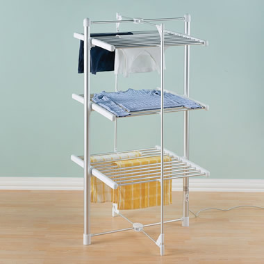 The Foldaway Heated Drying Rack.