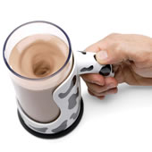 The Messless Chocolate Milk Mixing Mug.