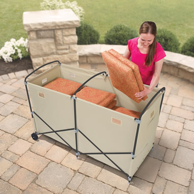 The Foldaway Patio Cushion Bin.