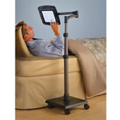 The Rolling Bedside iPad Stand.
