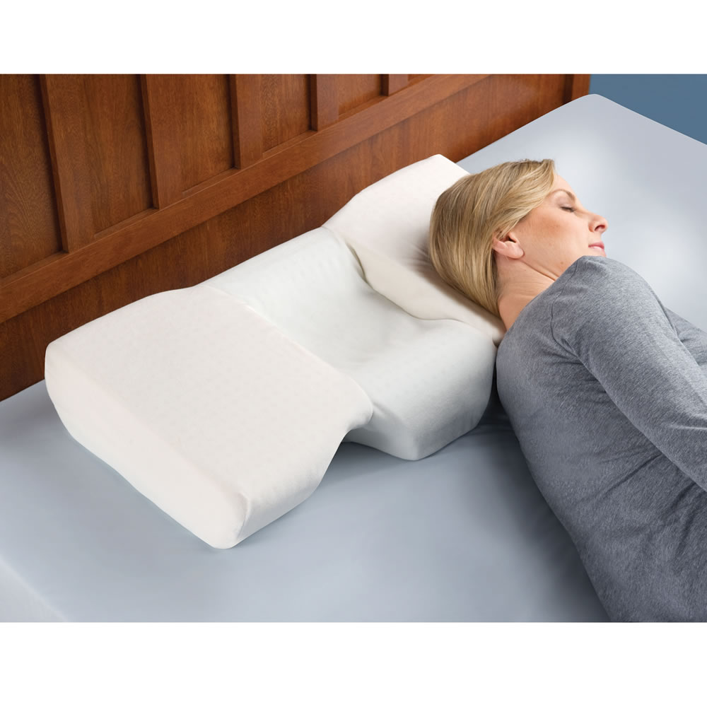 The Neck Pain Relieving Pillow Hammacher Schlemmer