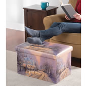 The Thomas Kinkade Ornament Storage Ottoman.
