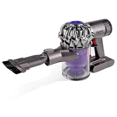 The Dyson Cyclonic Suction Hand Vacuum.