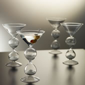 The Martini Hourglasses.