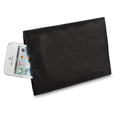 The Cell Phone Silencing Pouch.