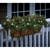 The Cordless Prelit Evergreen Flower Box.