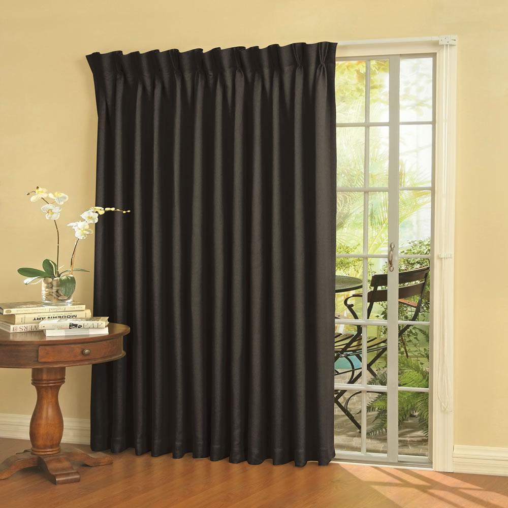 Patio Door Curtains : The noise reducing patio door drapes hammacher schlemmer