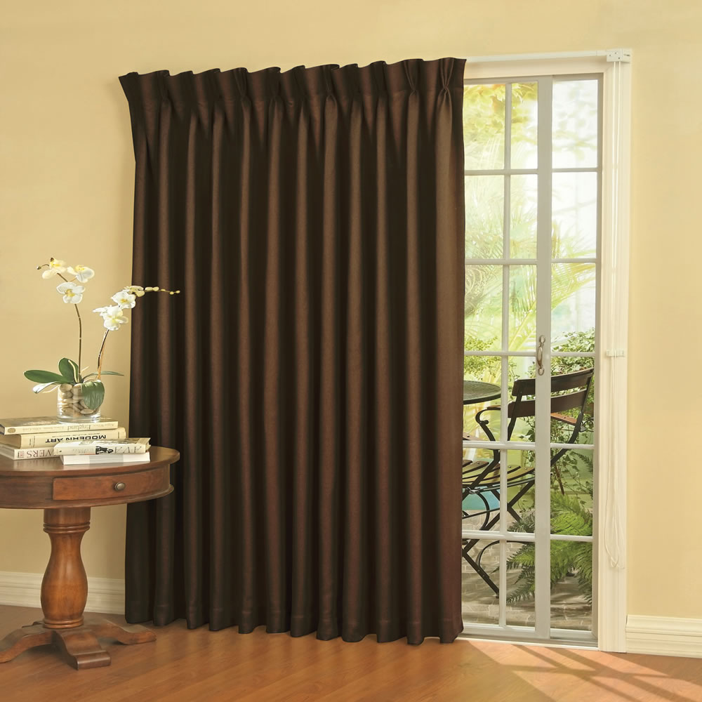 The Noise Reducing Patio Door Drapes Hammacher Schlemmer