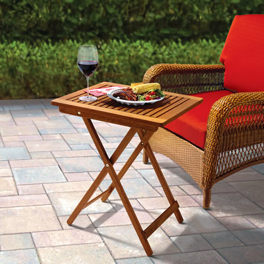 The Brazilian Eucalyptus Outdoor Tray Tables.