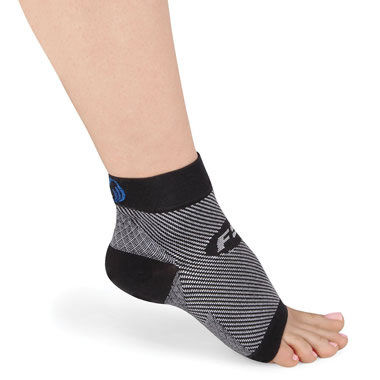 The Plantar Fasciitis Relieving Foot Sleeves.