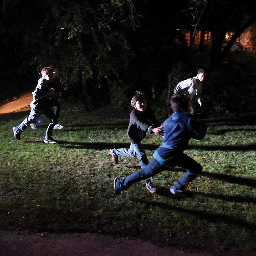 The nocturnal capture the flag game hammacher schlemmer for Capture the flag