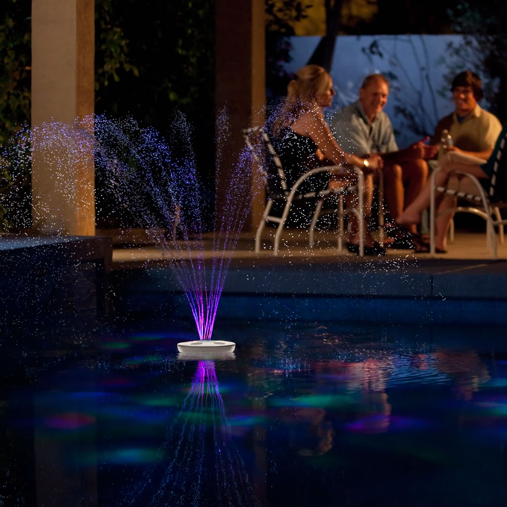 The Floating Lighted Pool Fountain 3