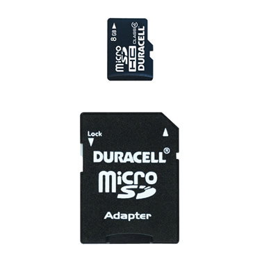8 GB Micro SD Card with SD Adapter.