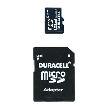 32 GB Micro SD Card with SD Adapter.