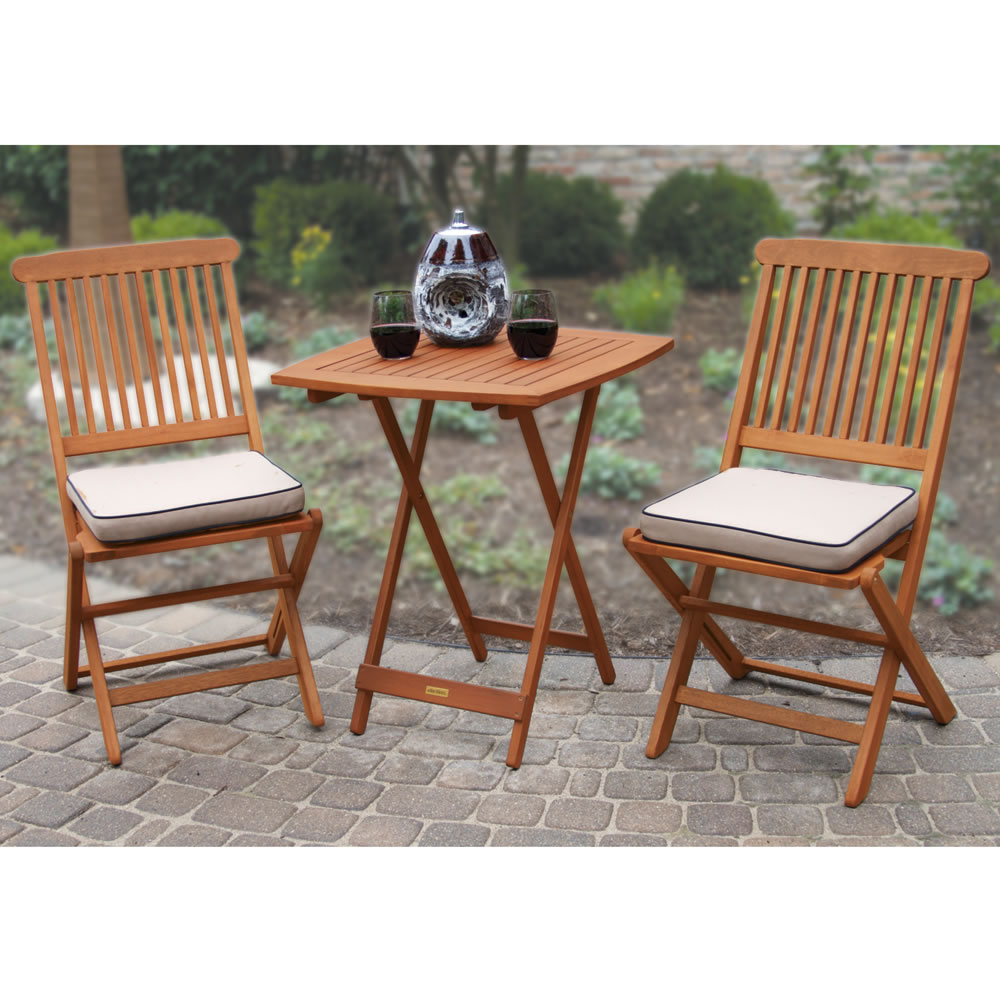 The Brazilian Eucalyptus Foldaway Bistro Set 2