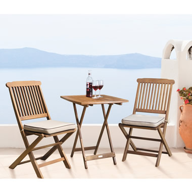 The Brazilian Eucalyptus Foldaway Bistro Set.