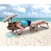 The Removable Shade Ergonomic Beach Lounger.