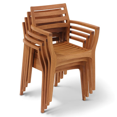 The Wegner Inspired Stacking Deck Chairs.