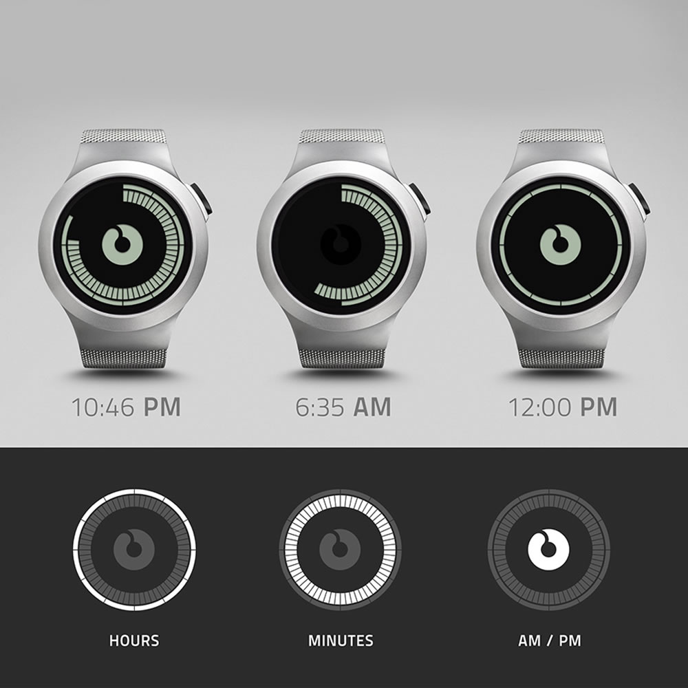 The Concentric Circles LCD Watch 2