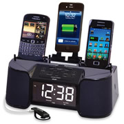 Four Device Charging Clock Radio.