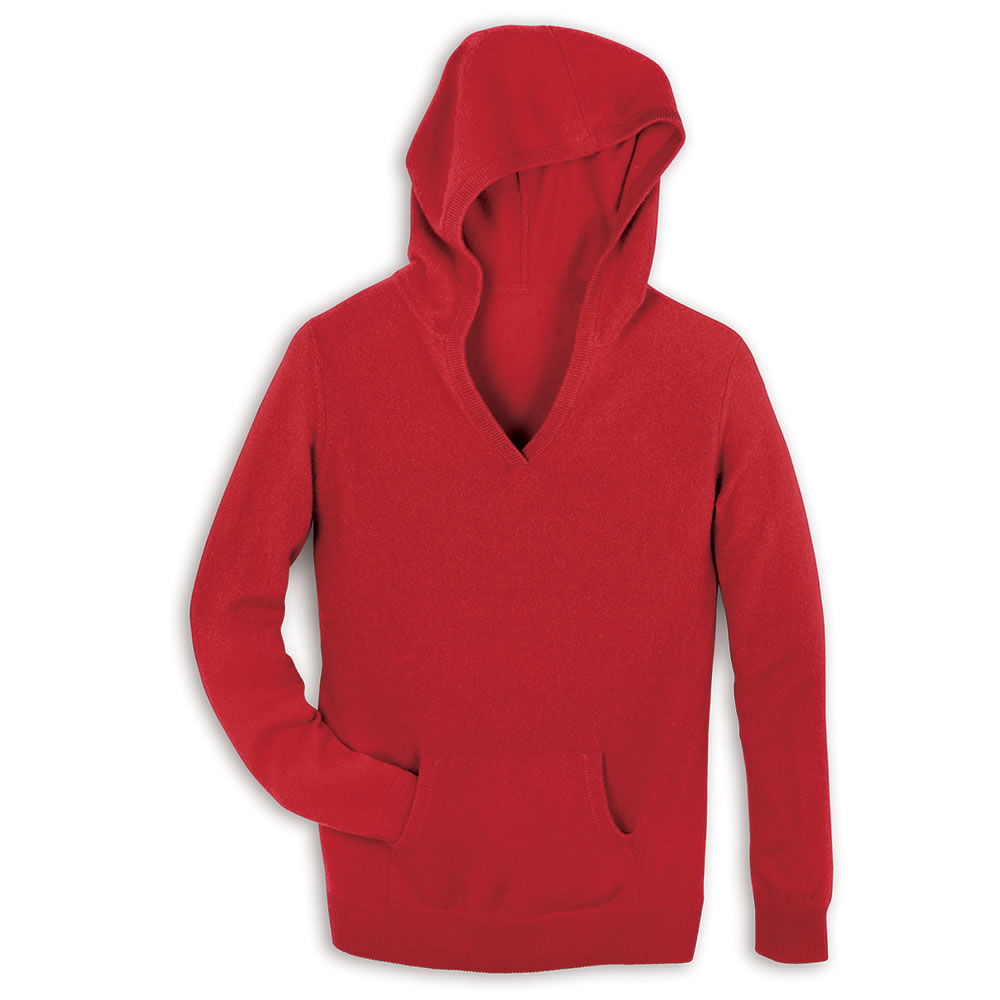 The Lady's Washable Cashmere Hooded Sweatshirt3