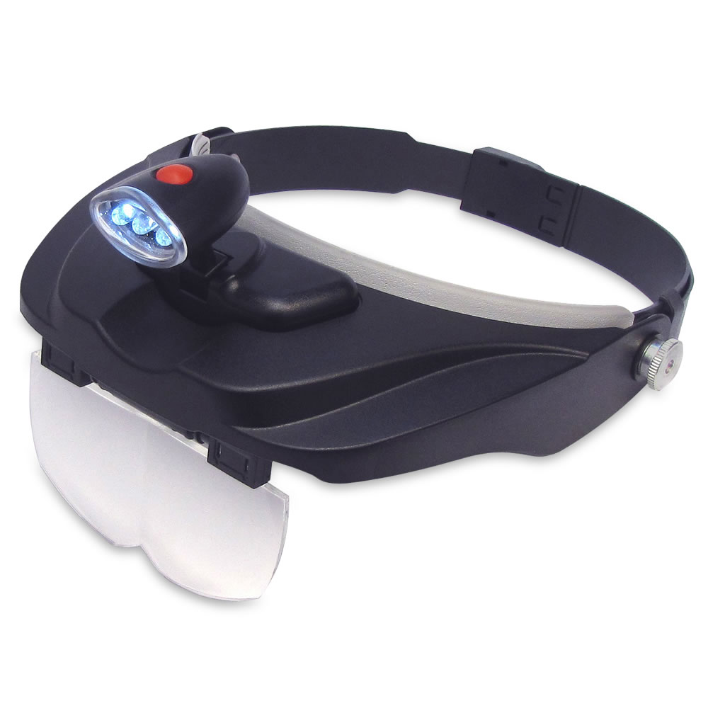 The Jeweler's Lighted Magnification Visor 2