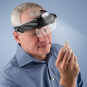The Jeweler's Lighted Magnification Visor.