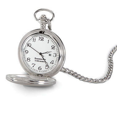 The Engraveable Conductor's Pocket Watch.