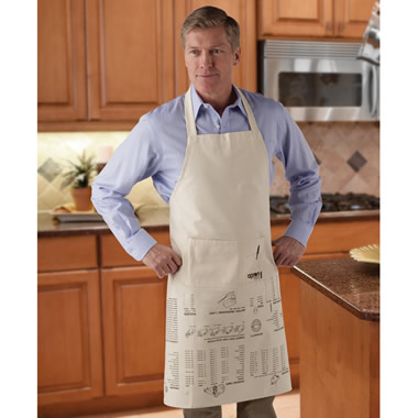 The Cagey Cook's Crib Note Apron.