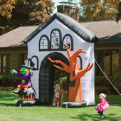 The Inflatable Howling Haunted House.