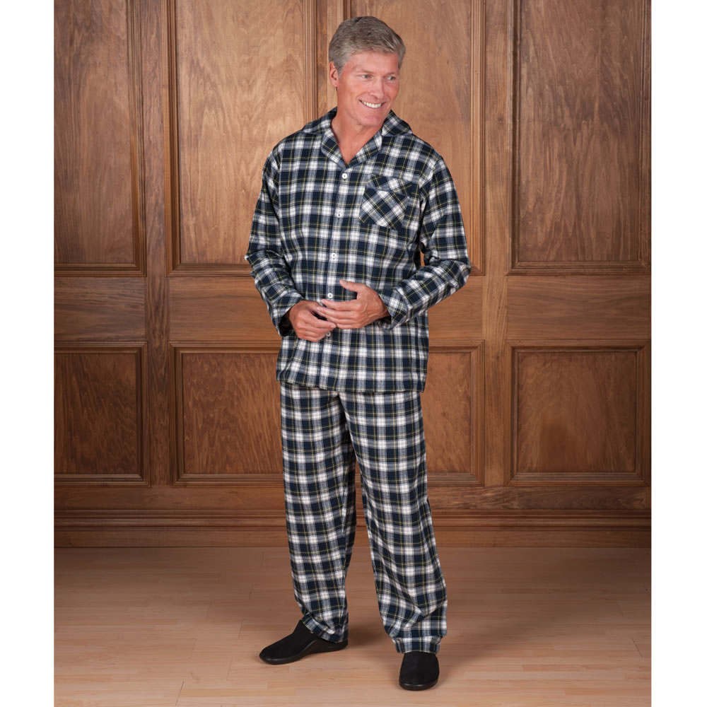 The European Flannel Pajamas - Hammacher Schlemmer