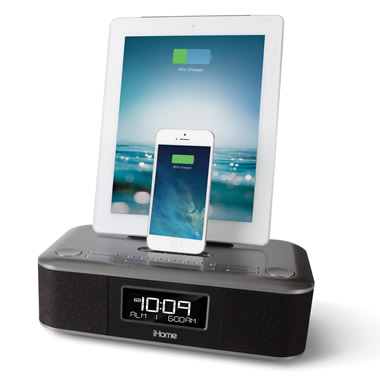 The iPad and iPhone Charging Clock Radio.
