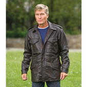 The Leather M65 Field Jacket.