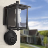Sconce Powered Wifi Camera Black