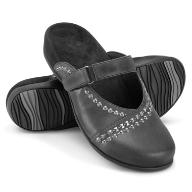 The Lady's Plantar Fasciitis Studded Mules.