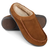 The Gentleman's Plantar Fasciitis Shearling Slippers.