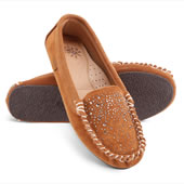 The Lady's Jeweled Sheepskin Moccasins.